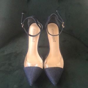 Jean pointed heel